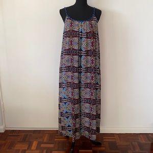 Seed Heritage Colourful Maxi Summer Dress AU 10